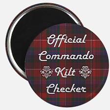 Official Commando Kilt Checker Magnet