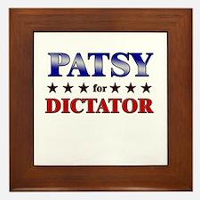 PATSY for dictator Framed Tile