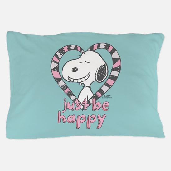 Snoopy Just Be Happy Full Bleed Pillow Case