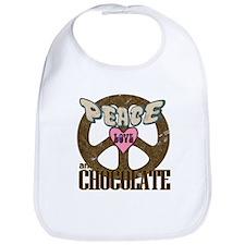 Peace Love and Chocolate Bib