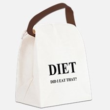 DIET - DID I EAT THAT? Canvas Lunch Bag