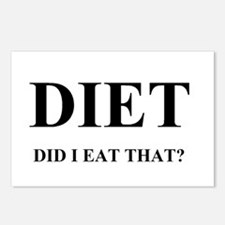 DIET - DID I EAT THAT? Postcards (Package of 8)