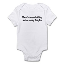 Too Many Beagles Infant Bodysuit