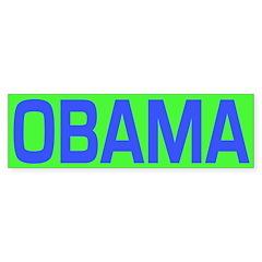 Blue and Green Obama Bumper Bumper Sticker