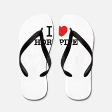 I Love HORNPIPE Flip Flops