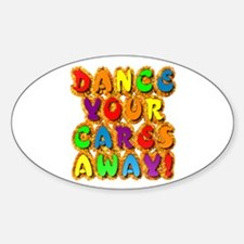 Furry Dance Oval Decal