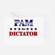 PAM for dictator Greeting Card