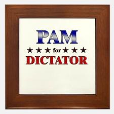 PAM for dictator Framed Tile