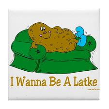 Potato Pancake Humor Tile Coaster