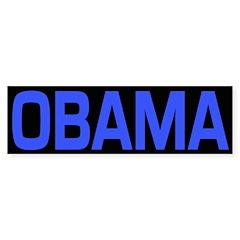 Blue and Black Obama Bumper Bumper Sticker