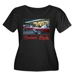 Cruisin' Style Women's Plus Size Scoop Neck Dark T
