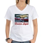 Cruisin' Style Women's V-Neck T-Shirt