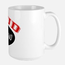 Proud Papaw (black and red) Large Mug