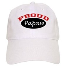 Proud Papaw (black and red) Baseball Cap