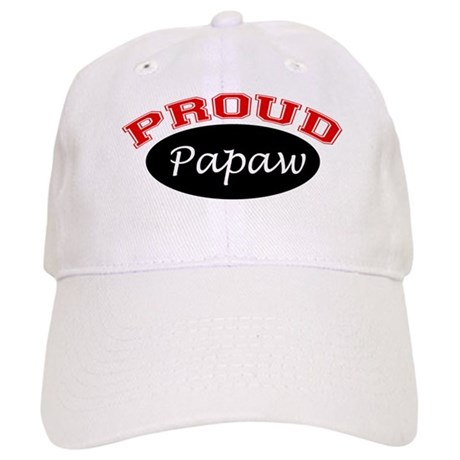 Proud Papaw (black and red) Cap