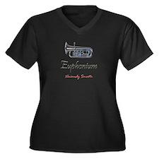 Euph Smooth Women's Plus Size V-Neck Dark T-Shirt
