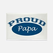 Proud Papa (blue) Rectangle Magnet