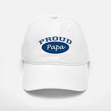 Proud Papa (blue) Baseball Baseball Cap