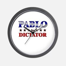 PABLO for dictator Wall Clock