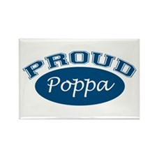 Proud Poppa (blue) Rectangle Magnet