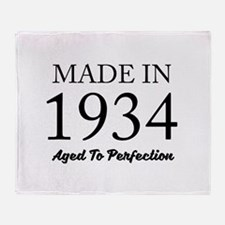 Made In 1934 Throw Blanket