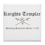 Knights Templar Slaying Sarac Tile Coaster