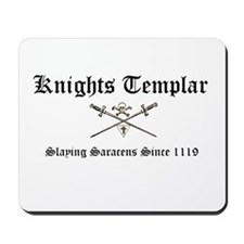 Knights Templar Slaying Sarac Mousepad