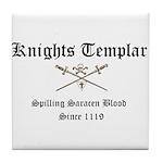 Knights Templar Spilling Sara Tile Coaster