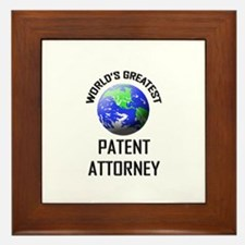 World's Greatest PATENT ATTORNEY Framed Tile