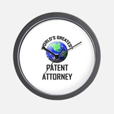 World's Greatest PATENT ATTORNEY Wall Clock