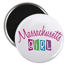 """MASSACHUSETTS GIRL! 2.25"""" Magnet (10 pack)"""