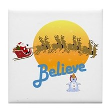 I Believe In Santa Claus Tile Coaster