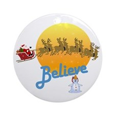 I Believe In Santa Claus Ornament (Round)