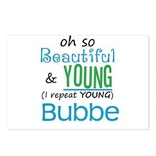 Beautiful and Young Bubbe Postcards (Package of 8)