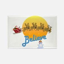 I Believe In Santa Claus Rectangle Magnet