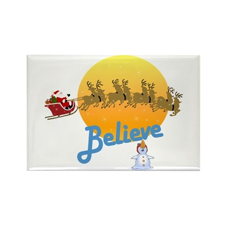 I Believe In Santa Claus Rectangle Magnet (100 pac