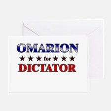 OMARION for dictator Greeting Card