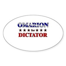 OMARION for dictator Oval Decal