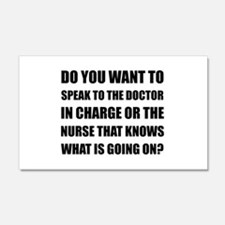 Doctor Or Nurse Knows Wall Decal