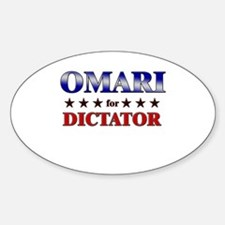 OMARI for dictator Oval Decal
