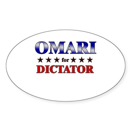 OMARI for dictator Oval Sticker