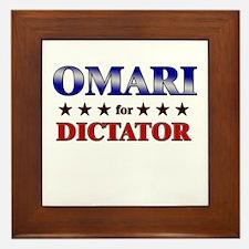 OMARI for dictator Framed Tile