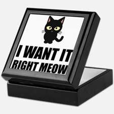 Right Meow Keepsake Box