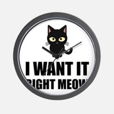 Right Meow Wall Clock