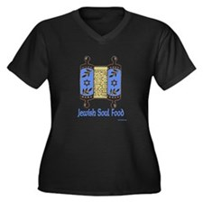 Jewish Soul Food Women's Plus Size V-Neck Dark T-S