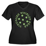 Visualize Whirled Peas Women's Plus Size V-Neck Da