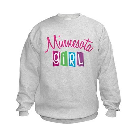 MINNESOTA GIRL! Kids Sweatshirt