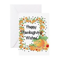Pumpkins and Dots - Wishes Greeting Card