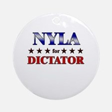 NYLA for dictator Ornament (Round)