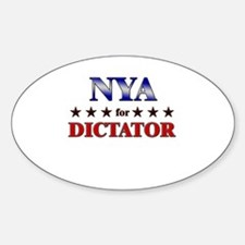 NYA for dictator Oval Decal